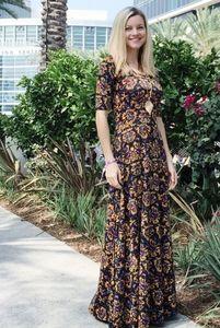 LuLaRoe Ana maxi dress NWT black floral